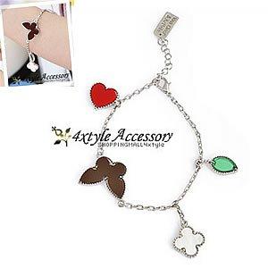 Korean Jewelry [67216] Cute Color Shapes Charm Bracelet  (value @ $10.5)