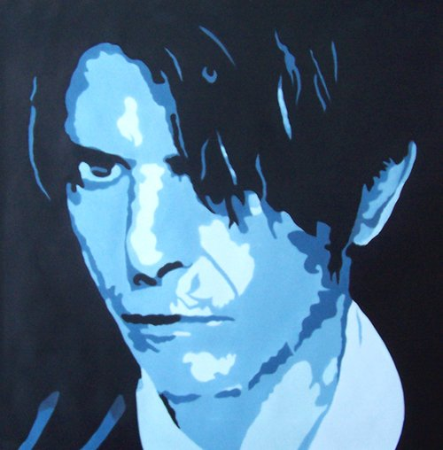 David Bowie Pop Art Modern Painting on Canvas C19 Free Shipping to USA