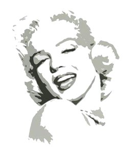 Sexy Marilyn Monroe Grey Pop Art Painting on Canvas C08