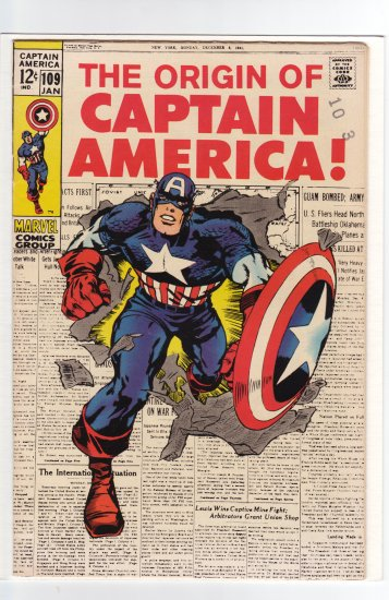 Captain America # 109 VF/NM to NM-