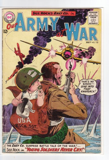Our Army at War # 132 VG/FN to FN-
