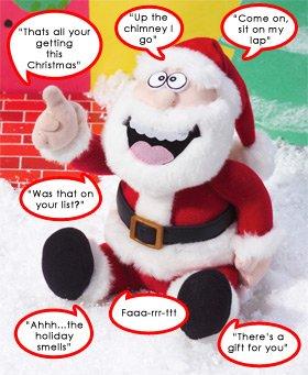 Animated Pull my Finger Santa