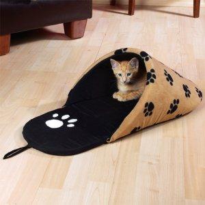 Slipper Pet Bed Paw Print