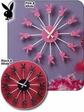 Playboy Bunny Radial Clocks