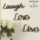 Set Of 3 Inspirational Decorative Wall Words
