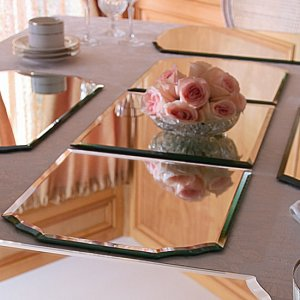 Mirrored 3-Pc Tabletop Runner