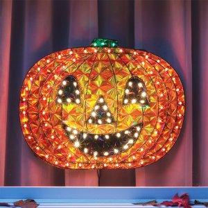 Lighted Seasonal Holographic Jack o Lantern