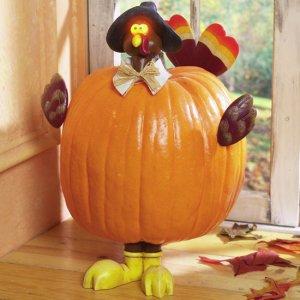 Lighted Pumpkin Decorating Kits - Turkey