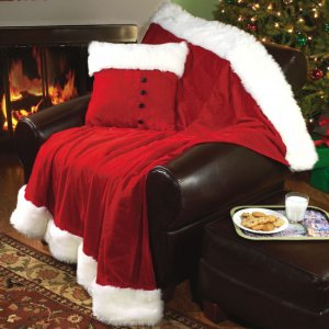 "Santa's ""Fur Trimmed"" Throw"