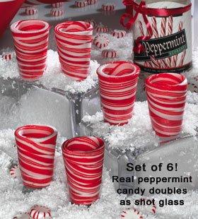 Set Of 6 Candy Shot Glasses