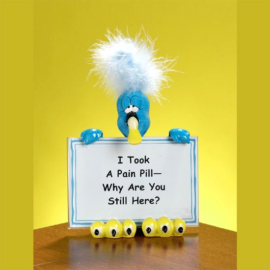 Feathered Attitude Sign Holders - Pain Pill