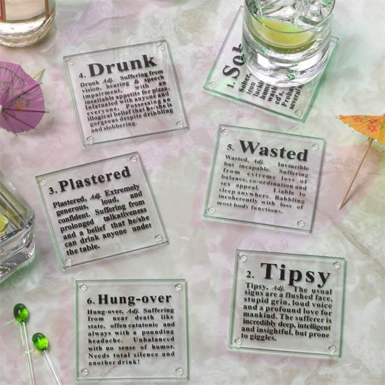 6-Pc. Drunk Coasters Set