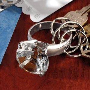 Huge Diamond Ring Keychain