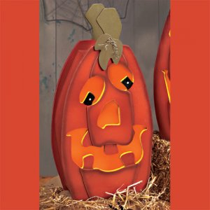 "16"" Light-Up Jack-O'-Lanterns -Gourdie"
