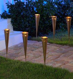 Set of 6 cone-shaped Luminaries