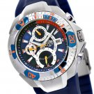 SUG FALCON MENS SWISS MADE MULTIFUNCTION QUARTZ WATCH NEW S.U.G. BLUE FACE