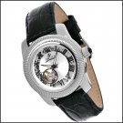 DUBOULE BIRCH MEN'S 21J AUTOMATIC WATCH NEW BLACK LEATHER MLP $1820