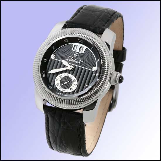 DUBOULE SUSSEX MENS 20J AUTOMATIC WATCH NEW BLACK LEATHER