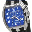 SUG TRACKER MENS SWISS MADE ISA CHRONOGRAPH QUARTZ WATCH NEW S.U.G. BLUE FACE