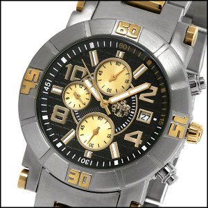 SUG MARSHALL MENS CITIZEN OS10 CHRONOGRAPH TWO TONE STAINLESS STEEL WATCH NEW S.U.G. BLACK