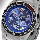 SUG VELOCITY MENS SEIKO VD53B CHRONOGRAPH MOVEMENT STAINLESS STEEL WATCH NEW BLUE S.U.G.