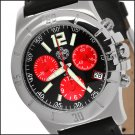 SUG ANTHEM MENS SWISS RONDA CHRONOGRAPH QUARTZ MOVEMENT STAINLESS STEEL WATCH NEW BLACK-RED S.U.G.