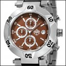 SUG SHAKEDOWN MENS CITIZEN OS10 CHRONOGRAPH STAINLESS STEEL WATCH NEW S.U.G. BROWN