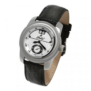 DUBOULE SUSSEX MENS 20J AUTOMATIC WATCH NEW LEATHER SILVER