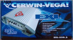 CERWIN VEGA EXL-350.2 350W 2 CH AMPLIFIER NEW