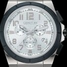CERRUTI 1881 MENS ROMA CAMPIONE CHRONOGRAPH SWISS QUARTZ SS WATCH BLACK NEW FREE USA S-H