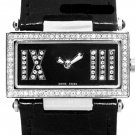 CERRUTI 1881 LADIES SCATOLA SOGNO SWISS QUARTZ SWAROVSKI CRYSTAL WATCH NEW BLACK LEATHER