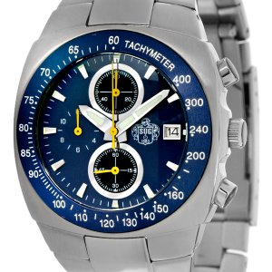 SUG AVENGER MENS CITIZEN OS10 CHRONOGRAPH STAINLESS STEEL WATCH NEW S.U.G. BLUE