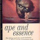 Ape and Essence Aldous Huxley 1958 Paperback