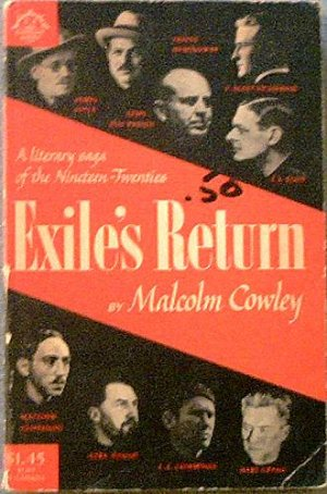 Exile's Return Malcolm Cowley 1962 Soft Cover
