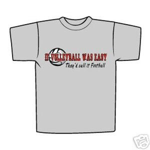 IF VOLLEYBALL WAS EASY T-SHIRT YOUTH LARGE NEW