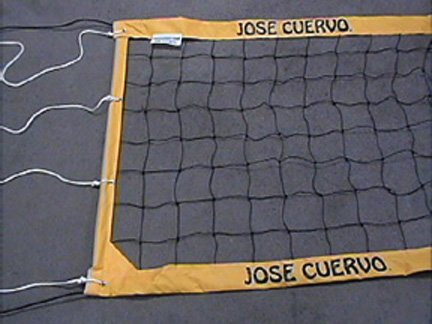 JOSE CUERVO DELUXE VOLLEYBALL NET with ROPE CABLE NEW