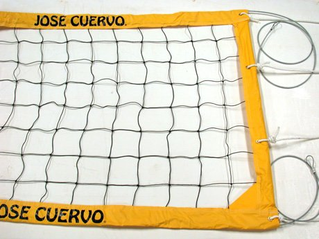 JOSE CUERVO POWER VOLLEYBALL NET with STEEL CABLE NEW