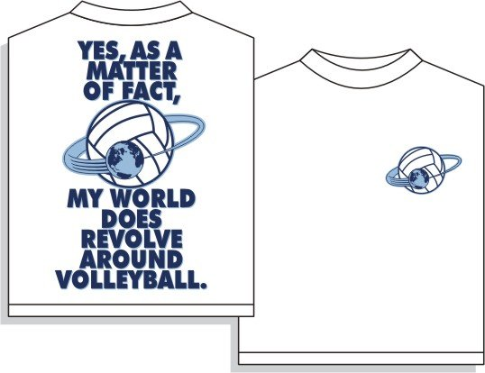 REVOLVES VOLLEYBALL T-SHIRT LARGE NEW volley ball