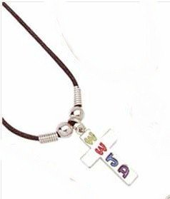 """New Cross """"What Would Jesus Do�  Pendant Necklace"""