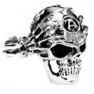 Mens Sterling Silver Skull and Hands Ring
