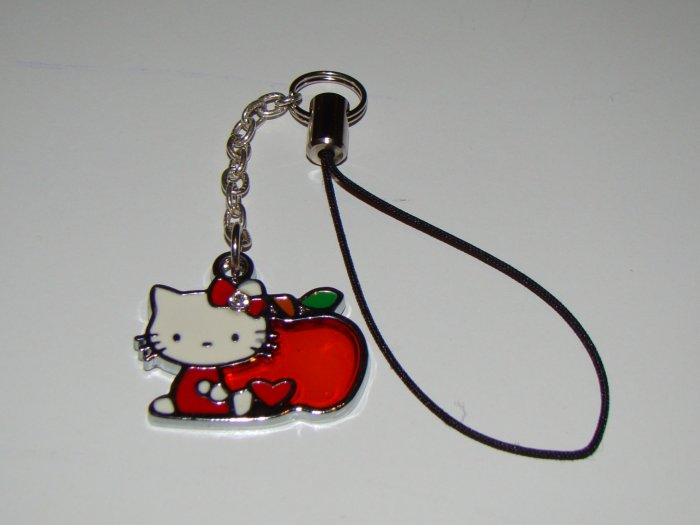 Hello Kitty Red Apple Cell Charm