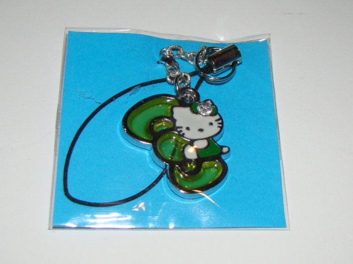 Hello Kitty Green Bow Cell Charm
