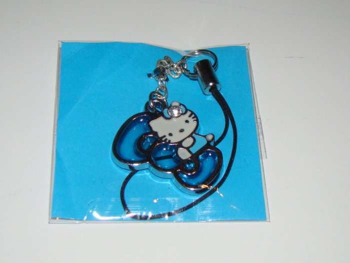 Hello Kitty Blue Bow Cell Charm
