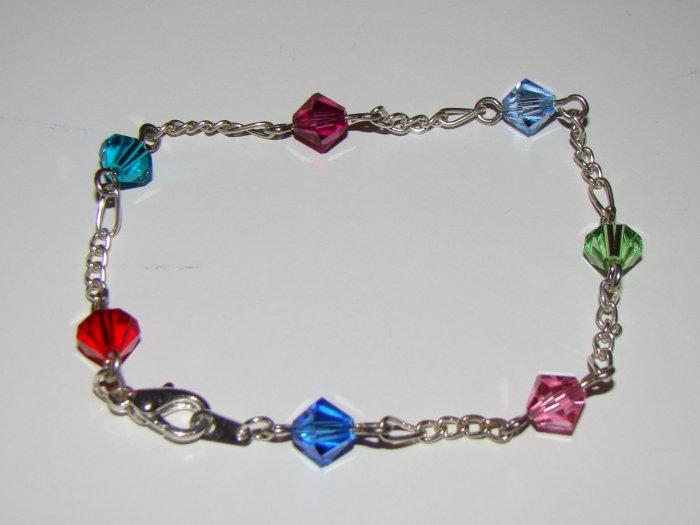 Swarovski bicone colorful bracelet