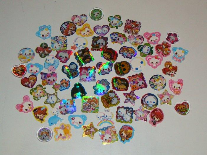 61 Assorted sack stickers + Bonus stickers!