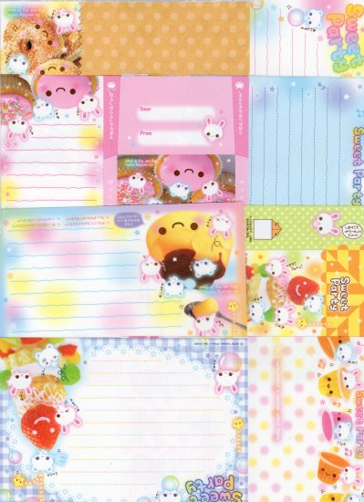 Kamio Sweet Party bunnies loose sheets