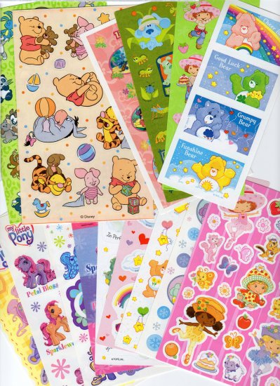 Sandylion-Carebears, My Little Pony & more. 25 Sticker Sheets