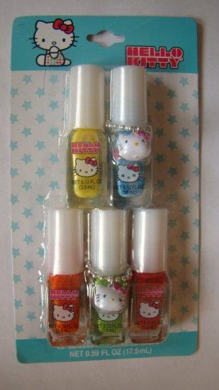 Hello Kitty NEON 5pc nail polish set
