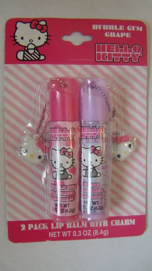 Hello Kitty 2pc Lip Balm W/ Charms