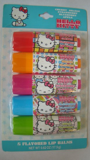 Hello Kitty RAINBOW 5pc Flavored Lip Balms